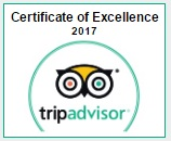TripAdvisor Certtificate of Excellence 2017